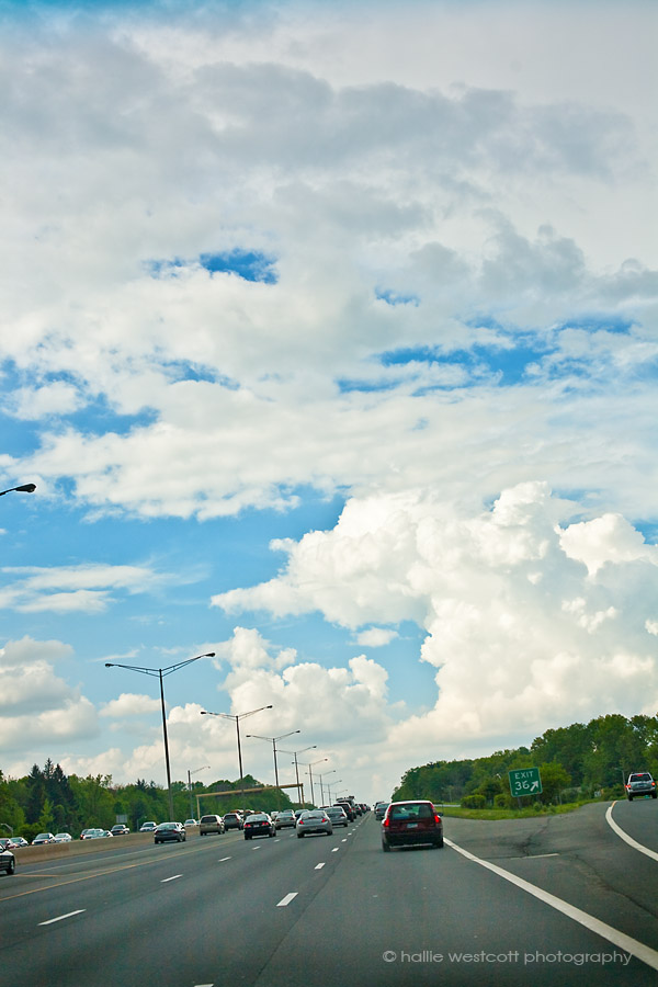 CT clouds on route 291 taken after spring storms in Windsor, CT