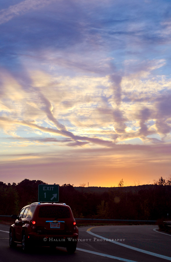Hartford CT photographer captures a beautiful sunset in New Hampshire