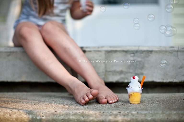 Guilford, CT Children's photographer captures child's play on a hot summer day