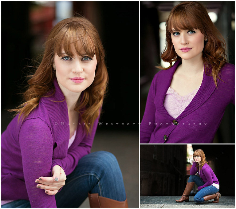 CT headshot photographer, Hallie Westcott works with actress Erin Cooper's new headshots